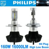 2X Philips LED Chips 160W 16000lm H4 9003 Hb2 Kit farol H / L Beam Bulbs 6000k