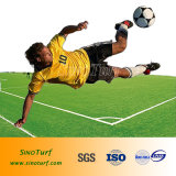 Gazon artificiel, gazon synthétique, factice pour le soccer de l'herbe, football, les sports avec SGS certifiés