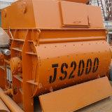 Mélangeur concret d'essieu horizontal de double de série de Js (JS2000)