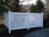 Jardin clôture en treillis