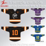 Healong Bildschirm-Drucken sublimierte völlig die gestrickten Eis-HockeyJerseys