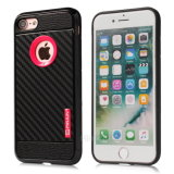 Caixa de telefone de borracha de fibra de carbono para iPhone7 iPhone 7 Case