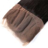Frontal indien 22.5 x de fermeture de lacet de cheveux humains d'approvisionnement d'usine directement frontal en soie de 360 lacets 4 x 2