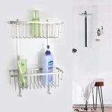 Санитарная корзина ливня угла двойного слоя крома изделий SUS304 вспомогательного оборудования ванной комнаты
