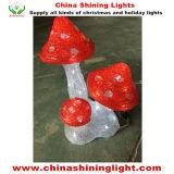 유럽 표준 세륨 RoHS UL SAA 버섯 아크릴 LED 크리스마스 불빛