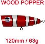 Une grande qualité 100 % étanche Timber Gt Popper Mini Wombat leurre de pêche en bois