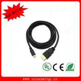Оптовый тип кабеля HDMI мужчина к мыжскому золоту покрыл 1.4 v