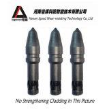 Dientes rotatorios del cortador del carburo de tungsteno que minan dígitos binarios de taladro de los dientes