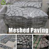 Natuurlijke Meshed Granite / Basalt / Slate / Bluestone Fan Shape Stone Paving voor Garden / Driveway