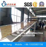 &#160를 기계로 가공하기 위하여 UV 장을 까는 기계 PVC를 만드는 UV 입히는 PVC 벽면;