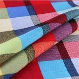 Plaid-Hemd-dickflüssiges Gewebe des Verkaufs-2016hot für Sprung/Sommer-Kleid