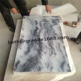 De in het groot Bewolkte Grijze Marmeren Marmeren Tegel van de Plak