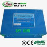 De lichtgewicht 48V 60V Batterijen van LiFePO4 voor e-Autopedden