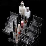 주문을 받아서 만들어진 투명한 아크릴 화장품 또는 이동 전화 진열대
