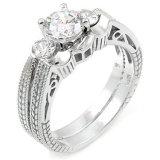 Het fonkelen Zirkoon 925 de Echte Ring van de Zilveren bruiloft
