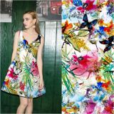 Lady Dress Digital Printing Tela Rayon