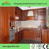 Cabinet de cuisine en bois de bouleau massif pour maison de vie
