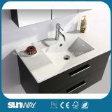 Горячий шкаф ванной комнаты MDF типа Европ сбывания с шкафом зеркала (SW-1313)