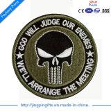"""2017供給OEMの警官-バッジパッチ、楕円形、銀、2-1/2 x 3-1/2 """"警察、保安官、機密保護のロゴの均一パッチによって刺繍される印のバッジ"""