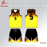 2017 Basketball Uniform Healong Free Design Quick Dry Sublimado Criar Jersey de basquete