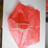 Sac rouge de maille de gaze de la qualité pp pour des fruits fabriqués en Chine