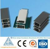 Perfil de alumínio extrudido de fábrica na China para porta de vidro