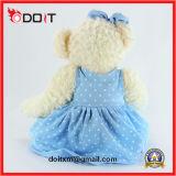Do urso azul da peluche da saia de En71 ASTM urso de assento feito sob encomenda da peluche