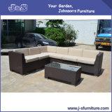 PEの平らな柳細工の屋外のテラスの部門別の家具、セットされる庭の藤のソファーの椅子(J409)