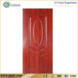 la melamina de 820*2050*4m m laminó la piel moldeada de la puerta de HDF usada en puerta
