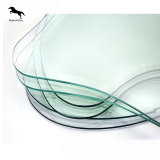 De Vlakte van uitstekende kwaliteit/boog het Aangemaakte en Gelamineerde Traliewerk van het Glas Frameless