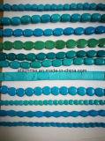 Cordas de grânulos de cristal de areia turquesa Semi Preçoius