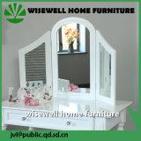 Mesa de vestir de mobiliário de quarto com 3 espelhos (W-LZ-802)
