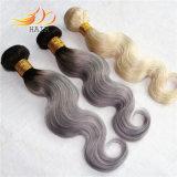 Tessuto biondo dei capelli di colore della miscela di colore chiaro dei capelli indiani del Virgin