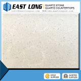 Bancadas artificiais brancas da pedra de quartzo com veia de mármore