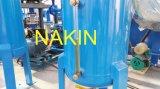 Le dispositif de distillation de pétrole de rebut est particulièrement conçu pour régénérer l'huile à moteur noire