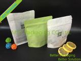 Bolsa de papel de arroz con el bolso claro de la ventana/del algodón