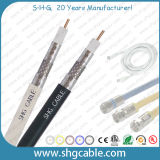 75 ohmios CATV Escudo triple cable coaxial RG6
