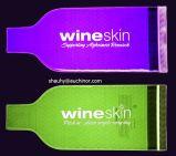 De draagbare Zak van de Houder van de Fles van de Wijn van pvc 1.5L Koelere Plastic