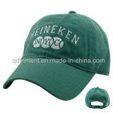 Gewaschene Baumwoltwill-Stickerei-Golf-Sport-Schutzkappe 100% (TMB0839)