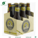 Caja de embalaje de seis de la cerveza acanalada del paquete