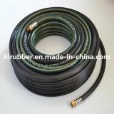 Grüner flexibler Belüftung-Garten-Schlauch mit Farbspritzpistole