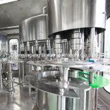 Agua mineral de la botella plástica que hace la máquina con pequeño coste