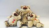주문 아기 장난감 연약한 정글 동물에 의하여 채워지는 표범 견면 벨벳 장난감