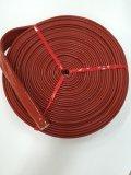 Manga de silicone de fibra de vidro / manga à prova de fogo