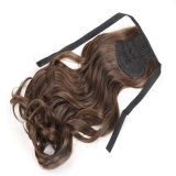Silky Straight 20 Polegadas Preto Cor Kanokalon Synthetic Hair Claw Clip Ponytail Hair Pieces