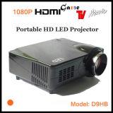 Projecteur Home Cinéma 1080p, vidéo projecteur LCD TFT de support (D9HB)