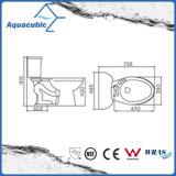 Siphonic 1.28gpf de duas partes escolhe o toalete alongado nivelado no branco (ACT9048)