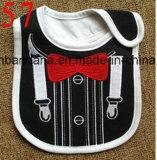 Bib младенца хлопка конструкции Customzied продукции OEM милый вышитый Applique выдвиженческий подгонянный