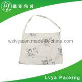 De Imagen personalizados promocionales impresos ecológica reutilizable Bolsa de algodón blanco de la bolsa de lona