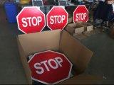 熱い販売太陽動力を与えられたLED点滅停止交通標識